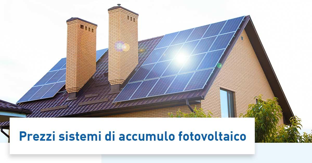 Accumulatori per fotovoltaico prezzo