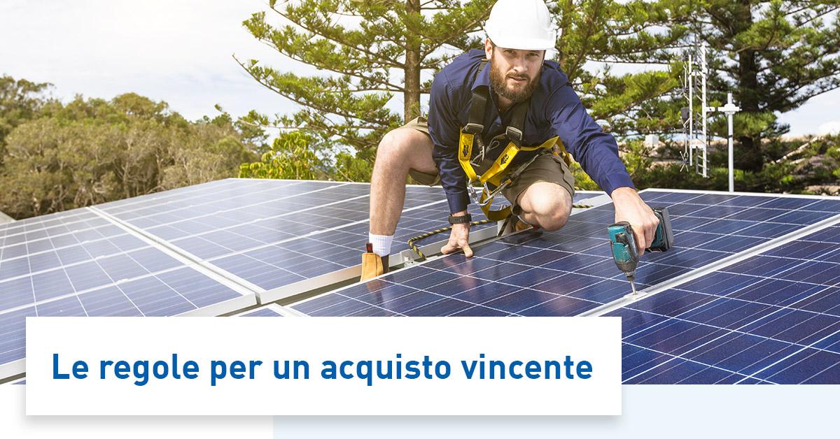 Impianto fotovoltaico con sistema di accumulo: 5 consigli per l'acquisto