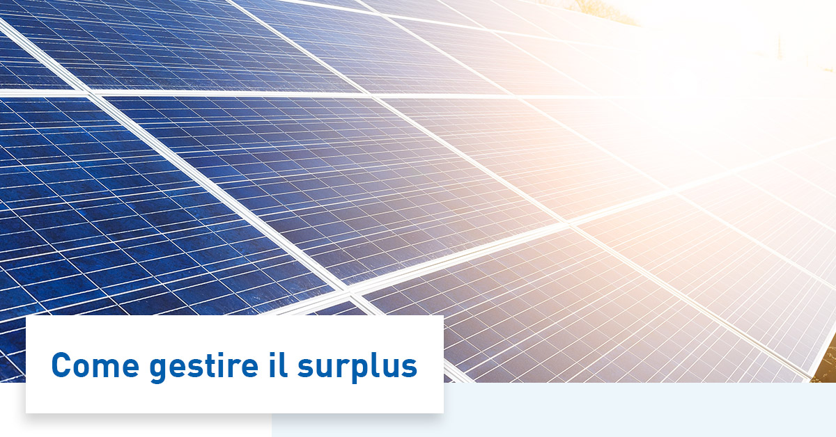 Fotovoltaico, l'energia prodotta in eccesso è persa?