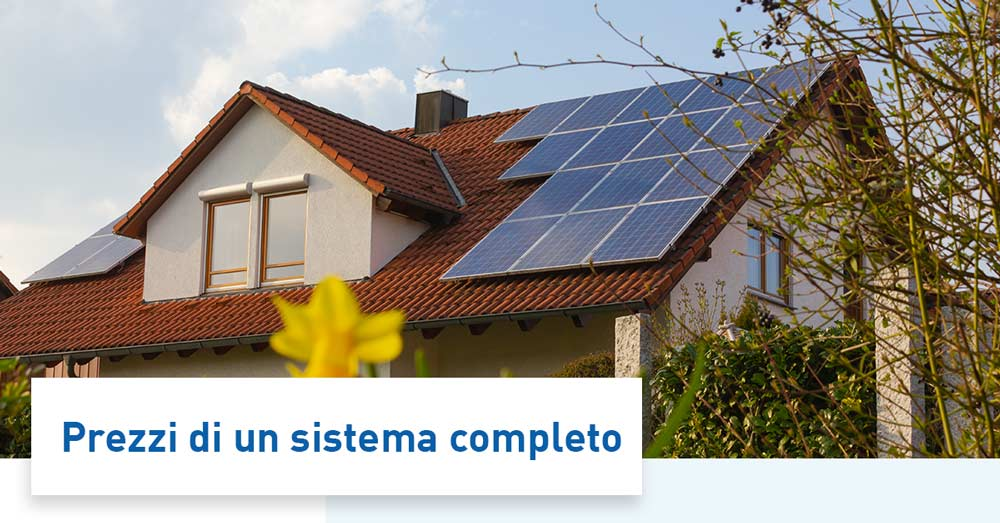 Costo impianti fotovoltaici con accumulo